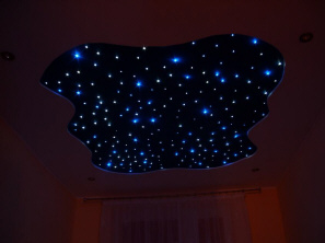 optical fibers night sky lighting LED halogen Poland